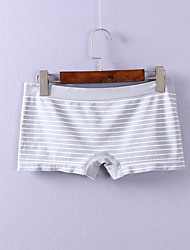 Retro Striped Shaping Panties Briefs  Underwear,Polyester