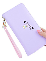 Women PU Polyester Formal Sports Casual Outdoor Office & Career Shopping Wallet All Seasons