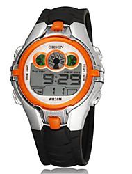 Masculino Relógio de Moda Relogio digital Chinês Digital Silicone Banda Preta Verde