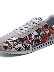 Herren-Sneakers Frühjahr Herbst Komfort Stoff lässig schwarz / weiß schwarz / rot grau