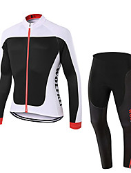 WOLFKEI Spring/Summer/Autumn Long Sleeve Cycling JerseyLong Tights Ropa Ciclismo Cycling Clothing Suits #WK66