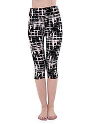 Mulheres Calças de Corrida Respirável Macio Confortável Calças para Ioga Exercício e Atividade Física Badminton Corrida Poliéster Delgado