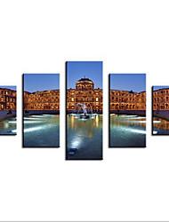 Stampe giclee Paesaggi Modern,Cinque Pannelli Tela ogni Forma Stampa Decorazioni da parete For Decorazioni per la casa