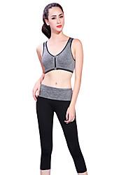 Yoga Soutien-Gorges de Sport Respirable Doux Confortable Extensible Vêtements de sport Yoga Exercice & Fitness FemmeGris Bleu Violet