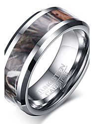 Men's Ring Basic Euramerican Fashion Personalized Tungsten Steel Luxury Casual Jewelry For Simple Party Finger Rings