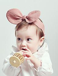 Newborn Baby's Handmade Yellow/Pink Girls Tire Handbands