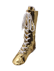 Women's Dance Shoes Patent Leather Jazz Boots Flat Heel Performance