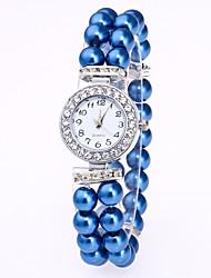 Mulheres Bracele Relógio Chinês Quartzo Banda Elegantes Branco Vermelho Rosa Azul Marinho