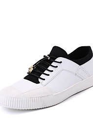 Herren-Sneakers Frühjahr Herbst Komfort PU Outdoor Casual Schwarz Weiß