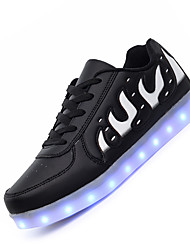 Masculino-Tênis-Light Up Shoes Shoe luminous-Rasteiro--Couro-Casual
