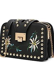 Women Shoulder Bag PU Summer All Seasons Casual Event/Party Sling Bag Clasp Lock Black Beige Gray