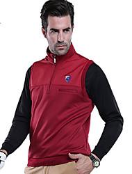 Homens Manga Curta Golfe Colete Térmico/Quente Confortável Branco Preto Vermelho Golfe Esportes Relaxantes