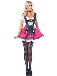 Costumes de Cosplay Fête d'Octobre/Bière Fête / Célébration Déguisement d'Halloween Fuchsia Couleur unie Robe Halloween Fête d'Octobre