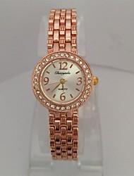 Damen Armband-Uhr Quartz Legierung Band Bequem Rotgold