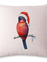 1 pcs Lovely bird printing style linen pillow sets sofa cushions cover