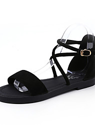 Women's Sandals Summer Mary Jane Fleece Outdoor Dress Casual Low Heel Zipper Walking