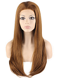 High Quality Synthetic Wigs Lace Front Silky Straight Hair Heat Resistant Fiber Hair Wig for Woman
