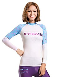 Women's Wetsuit Top Breathable Quick Dry Chinlon Diving Suit Long Sleeve Tops-Diving Spring Summer Fashion