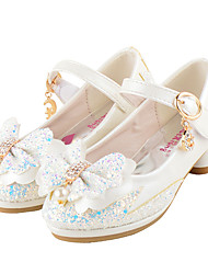 Girls' Wedding Shoes Summer Fall Comfort Novelty Flower Girl Shoes Glitter Leatherette Wedding Party & Evening Dress Casual Flat Heel