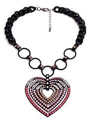 Per donna Collane con ciondolo A forma di cuore Originale Personalizzato Rosa Gioielli Per 1 pezzo