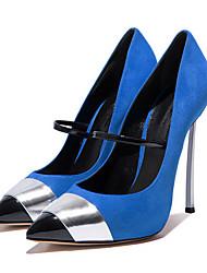 Красный Синий-Для женщин-Свадьба Для прогулок Повседневный Для вечеринки / ужина Для праздника-Овчина-На шпильке-Удобная обувь