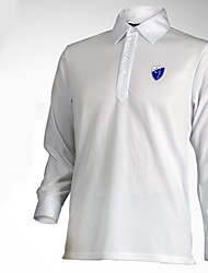 Men's Long Sleeve Golf Tops Breathable Sweat-wicking Comfortable Blue Red White Golf Leisure Sports