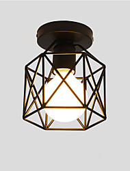 16cm Vintage Industrial Mini Painting Metal Flush Mount Ceiling Light Fixture Pendant Light for Living Room Bedroom Dining Room Kitchen Bathroom
