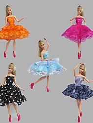Вечеринка Платья Для Кукла Барби Платья Для Девичий игрушки куклы