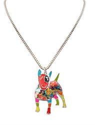 Women's Men's Pendant Necklaces Jewelry Animal Shape Chrome Unique Design Dangling Style Animal Design Vintage Statement Jewelry Rainbow
