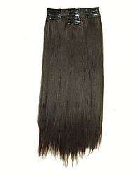 False Hair Extension 11 Clips Clip in Hair Extensions Synthetic Hair Apply Hairpiece 22 Long Straight Hairpieces D1020  4#