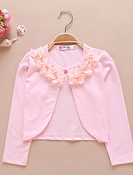 Girls' White/Pink Long Sleeve Cardigan Jacket (1-12 T