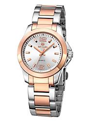 MEGIR Men's Business Casual Seashells Stainless Steel Watch
