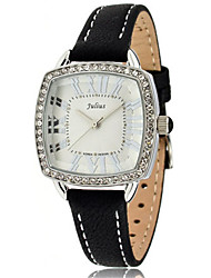 Women's Fashion Watch Bracelet Watch Quartz Water Resistant / Water Proof Leather Band Sparkle Casual Black White Orange Brown Rose