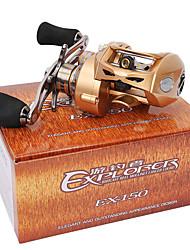 Moulinet bait casting 7.0:1 9 Roulements à billes Droitier Pêche d'appât Pêche au leurre-EX150-R