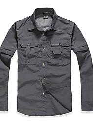 Hombre Camisa para senderismo Secado rápido Resistente a los UV Transpirable Ropa Interior/Prenda Interior para Deportes de Nieve