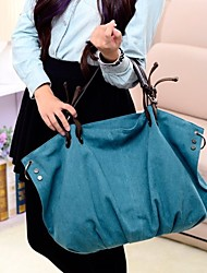 Women Bags All Seasons Canvas Tote with Ruffles for Casual Formal Office & Career Blue Black