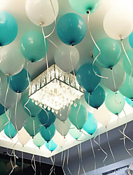The 10-Inch 2.2-Gram Thick Sublight Tiffany Blue Latex Balloon/Wedding Room Decorated With Wedding Balloons