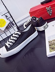 Men's Sneakers Fall Winter Comfort PU Casual Low Heel Black