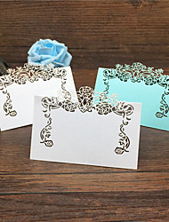40pcs Lace Flower Laser Cut Wedding Table Place Card Name Card Wedding Party Table Decoration Flower Table Wedding Decoration