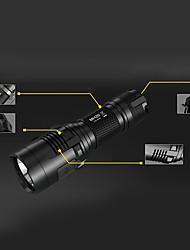 Lanterne LED LED 1000 Lumeni 8.0 Mod Cree XM-L2 18650 CR123A Rezistent la Impact Mâner antialunecare Reîncărcabil Rezistent la apă Ușor