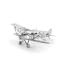 Puzzles Puzzles 3D Blocs de Construction Jouets DIY  Avion Acier inoxydable Maquette & Jeu de Construction