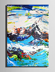 Mini Size E-HOME Oil painting Modern Abstract Mountain View Pure Hand Draw Frameless Decorative Painting