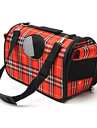 Cat Dog Carrier & Travel Backpack Sling Bag Pet Carrier Portable Breathable Plaid/Check Purple Red