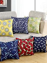 1 Pcs Flowers Dragonfly Cotton/Linen Pillow Case 8 Design Fashion Pillow Cover