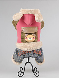 Dog Coat Dog Clothes Casual/Daily Keep Warm Animal Green Ruby Brown