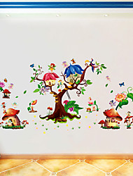 Butterfly Elf Cartoon Sticker Kids' Room Living Room Bedroom Background Decorative Sticker Pvc Wall Sticker
