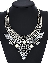 Women's Choker Collar NecklacesImitation Pearl Round Rose Gold Imitation Pearl Glass Aluminum Alloy Imitation Diamond Enamel Basic