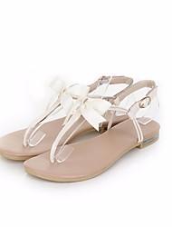Women's Sandals PU Summer Beige Almond Flat