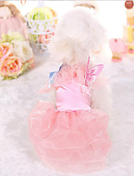 Robe Vêtements pour Chien Mignon Mode Princesse Bleu Rose