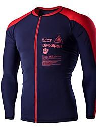 Муж. Велоспорт Верхняя часть Быстровысыхающий Пригодно для носки Дышащий Защита от солнечных лучей Чинлон Спортивные товарыБелый Красный